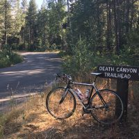 Looking forward to Death Canyon Ride, Grand Teton Nat. Park