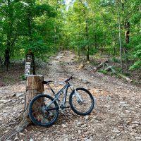 Biking the ORV Park.