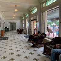 Lobby of the Fordyce Bathhouse, now the National Park Visitor Center.