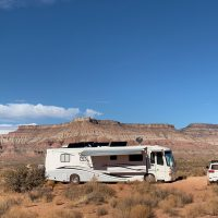 After that week we dry-camped in the Arizona desert south of St. George Utah