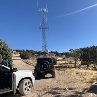 At the top of the Antenna towers
