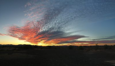 Sunrise in Quartzsite AZ