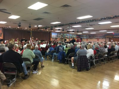 The Tucson Concert Band in the Ballroom of the Voyager RV Resort