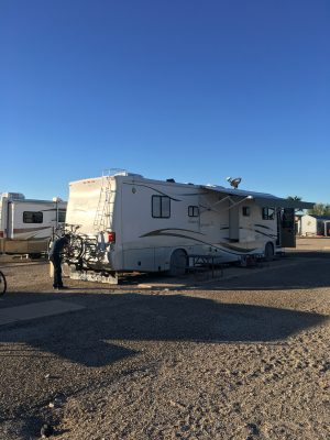 Our spot at Voyager RV Resort