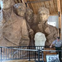 Mt Rushmore - this is the 12 Ft paper mache mockups that were actually used to measure and build the faces!