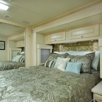 Bedroom with queen-sized bed.