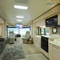 The office side of the motorhome.