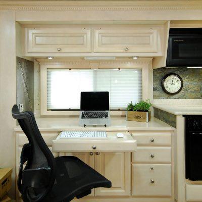 Desk in office position.