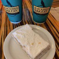 Lemon bar and coffee