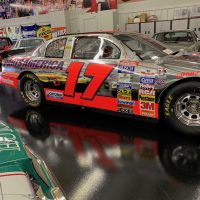 The Chrome car of Darrel Waltrip (AKA Darrel Cartrip of the movie Cars)