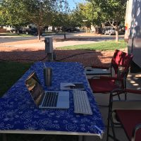 Our outdoor office on a beautiful fall day in Hurricane, near St. George UT