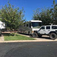 Willow Wind RV Park in Hurricane UT. Most sites are back in.